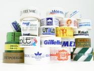 Клише и макет клейкой ленты с логотипом бесплатно